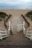 Пляж Noordwijk, Нидерланды Стоковое Фото