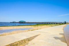 Пляж Ocean Springs Стоковые Изображения