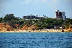 Пляж Olhos de agua стоковые фото