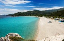 Пляж Oneiru, Armenistis Стоковое Изображение
