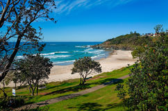 Пляж Oxley на порте Macquarie Австралии Стоковое Фото