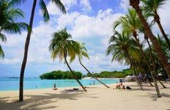 Пляж Palawan острова Sentosa Стоковые Изображения