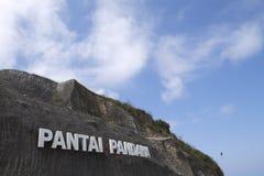 Пляж Pandawa Стоковые Изображения RF