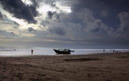 Пляж Pangandaran Стоковые Изображения RF
