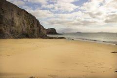Пляж Papagayo на Лансароте, архипелаге Канарских островов Стоковое Изображение