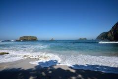 Пляж Papuma, Индонезия Стоковое Изображение RF