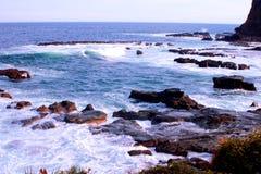 Пляж papuma Tanjung стоковое фото rf