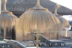 Пляж Parasole Солнця Стоковые Фото