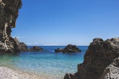 Пляж Parga Греция Lichnos Стоковое Изображение