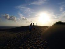 Пляж Patara захода солнца Стоковое Изображение RF