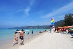 Пляж Patong в Пхукете Таиланде Стоковая Фотография