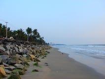 Пляж Payyambalam, Kannur, Керала, Индия Стоковая Фотография