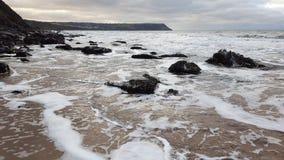 Пляж Penbryn стоковое фото