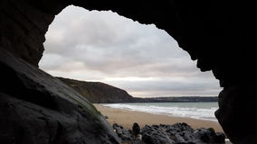 Пляж Penbryn Стоковая Фотография