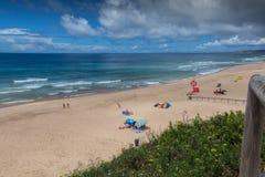 Пляж Peralta в Lourinha, Португалии Стоковое фото RF