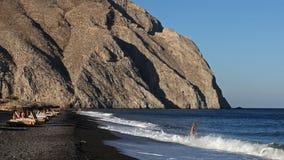 Пляж Perissa Стоковое Изображение RF