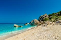 Пляж Petra Megali, остров лефкас, Levkas, Lefkas, Ionian море, Стоковые Фотографии RF