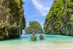 Пляж Phi Leh - Krabi Phi Ko, Таиланда Стоковая Фотография RF