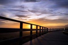 Пляж Pinillo променада, Марбелья Стоковое Изображение RF