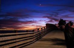 Пляж Pinillo променада, Марбелья Стоковые Изображения