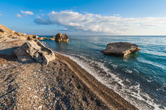 Пляж Pissouri Кипр Стоковое Изображение