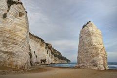 Пляж Pizzomunno Стоковые Фото