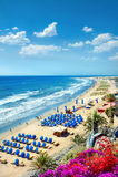 Пляж Playa del Ingles Maspalomas gran canaria Стоковые Изображения RF