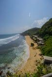 Пляж Pok Tunggal, Jogjakarta, Индонезия Стоковое Изображение
