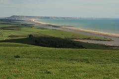 Пляж Portand и Chesil Стоковые Изображения
