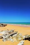 Пляж Prestine вдоль Индийского океана, около Broome, западная Австралия Стоковое фото RF