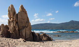 Пляж Propriano в Corse - Франции Стоковые Фото