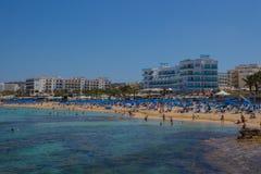 Пляж Protaras, Кипр Стоковое Фото