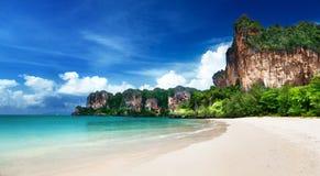 Пляж Railay в Krabi Таиланде Стоковое Фото