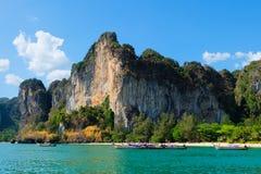 Пляж Railay в Krabi Таиланде Стоковое Изображение RF