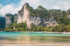 Пляж Railay в Krabi Таиланде Стоковые Фото