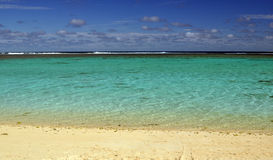Пляж Rarotongan стоковые фотографии rf