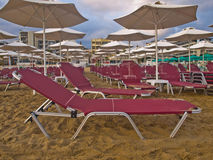 Пляж Rethymnon Крита Стоковое Фото
