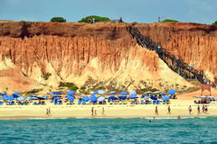 Пляж Rocha Baixinha Leste Стоковое Изображение RF