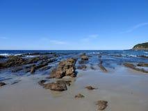 Пляж Rockpool диаманта стоковые фотографии rf
