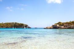 Пляж S'Amarador в Мальорке Стоковые Фотографии RF