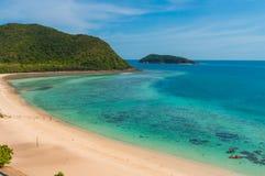 Пляж Samae Сан на Chonburi, Таиланде Стоковое фото RF