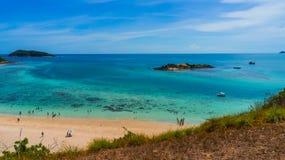 Пляж Samae Сан на Chonburi, Таиланде Стоковое Изображение RF