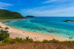 Пляж Samae Сан на Chonburi, Таиланде Стоковая Фотография