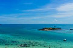 Пляж Samae Сан на Chonburi, Таиланде Стоковые Фотографии RF