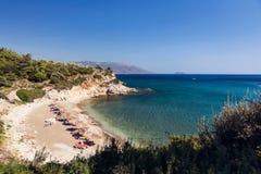 Пляж Samos Aspres Стоковая Фотография