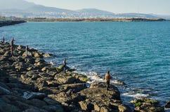 Пляж Samsun Atakum, Турция Стоковое Изображение RF