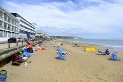 Пляж Sandown стоковые изображения rf