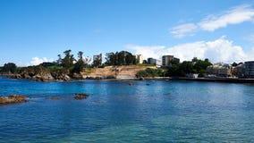 пляж Santa Cruz в Santa Cruz Галиции, Испании Стоковое фото RF