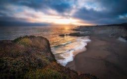 Пляж Santa Cruz пантеры Стоковые Изображения RF
