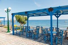 Пляж Santorini Kamari Стоковые Изображения RF